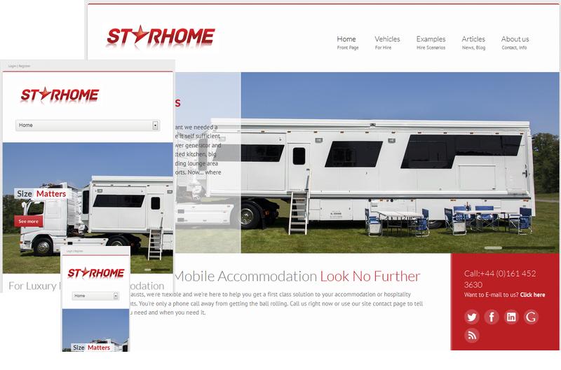 Starhome Responsive Web Site