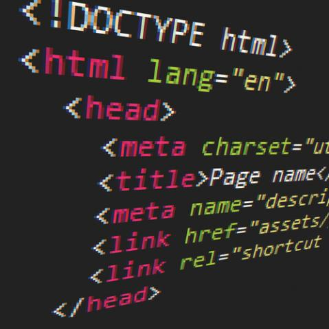Snippet of HTML source code
