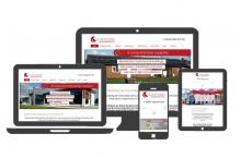 Multiple device views of Sustainable Building Services web site
