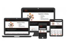 Multiple device views of Viking Inspection web site